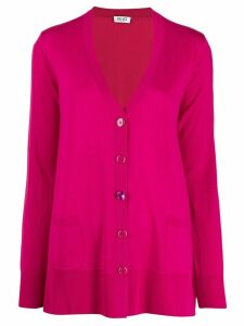 LIU JO loose-fit knit cardigan - PINK