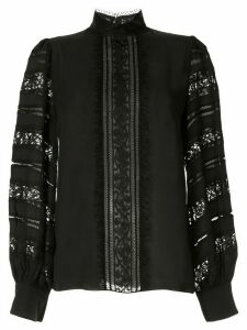 Andrew Gn lace-detail blouse - Black