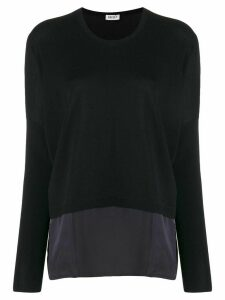 LIU JO contrast panel knit sweater - Blue
