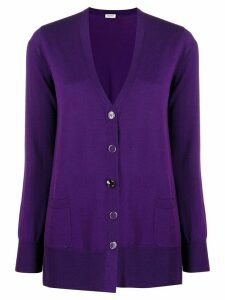 LIU JO v-neck knit cardigan - PURPLE