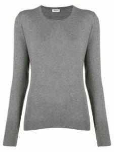 LIU JO crew-neck knit sweater - Grey