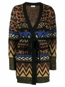 Twin-Set jacquard-knit cardigan - Brown