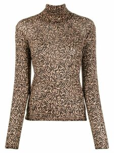 Nanushka graphic animal print top - NEUTRALS