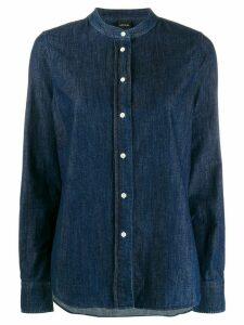 Aspesi relaxed-fit band collar shirt - Blue