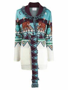 Hayley Menzies Tigress jacquard cardigan - Blue
