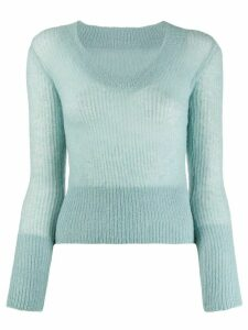 Jacquemus La Maille Dao knitted top - Blue