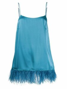 Semicouture feather hem top - Blue