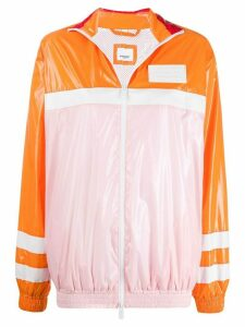 Burberry colour block high-shine jacket - PINK
