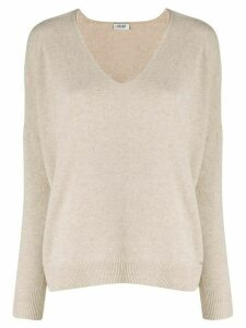 LIU JO v-neck knit sweater - NEUTRALS