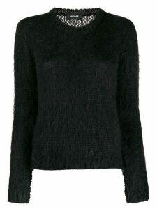 Rochas slim-fit crew-neck jumper - Black