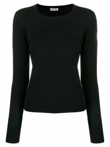 LIU JO embellished sleeve knit sweater - Black
