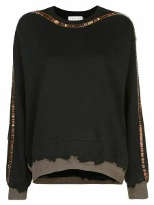 Collina Strada embellished tie-dye sweatshirt - Black