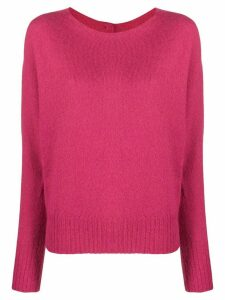 LIU JO back-button knit sweater - PINK