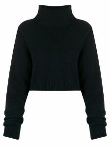 Semicouture ribbed knit cropped jumper - Blue