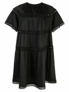 Cynthia Rowley Postcard embroidered dress - Black