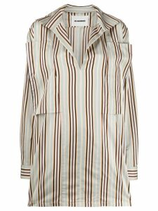Jil Sander oversized striped button-up shirt - NEUTRALS
