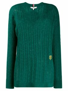 Tommy Hilfiger V-neck cable knit top - Green