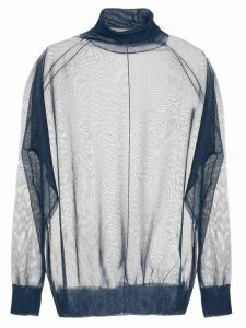 Toga sheer roll neck sweater - Blue