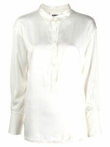 Kristensen Du Nord half button front shirt - White
