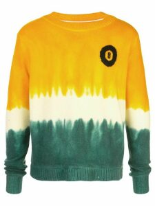 The Elder Statesman dip-dyed 8-Ball cashmere jumper - ORANGE