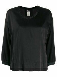 Kristensen Du Nord boxy round neck blouse - Black