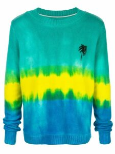 The Elder Statesman tie-dye palm tree cashmere jumper - Green