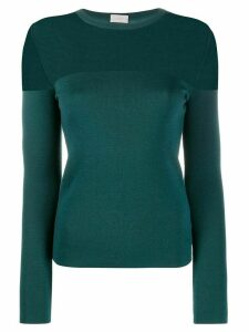 MRZ sheer panel jumper - Green