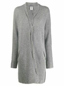 Kristensen Du Nord longline fine knit cardigan - Grey