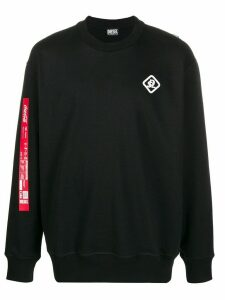 Diesel recycled fabric logo sweatshirt - Black
