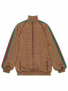 Gucci GG print bomber jacket - Brown