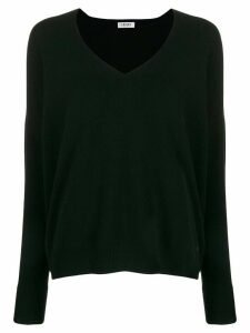 LIU JO v-neck knit sweater - Black