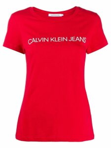 Calvin Klein Jeans printed logo T-shirt - Red