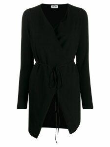 LIU JO wrap-style tie-fastening cardigan - Black