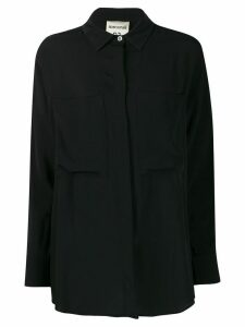 Semicouture pocket-detail long sleeve blouse - Black