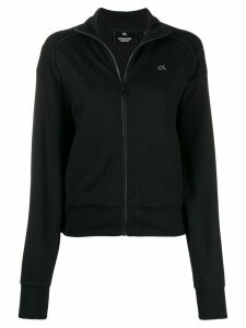 Calvin Klein zipped logo sweater - Black