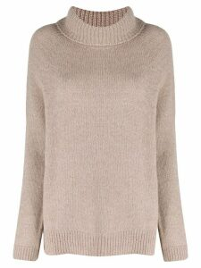 LIU JO rollneck knit sweater - NEUTRALS