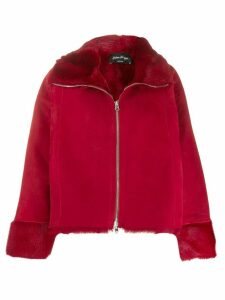 Andrea Ya'aqov zipped shearling jacket - Red