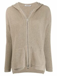 La Fileria For D'aniello hooded cardigan - Neutrals