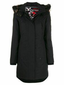 Moose Knuckles zip-up parka coat - Black