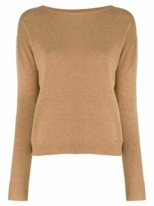 LIU JO crew-neck knit sweater - Brown