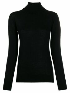 Semicouture turtle-neck fitted top - Black