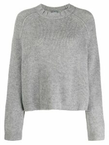 Kristensen Du Nord boxy round neck sweater - Grey