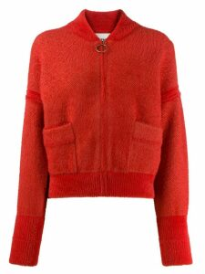 Essentiel Antwerp Tripping zip cardigan - Red