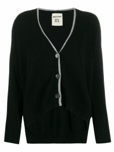 Semicouture contrast-trim cardigan - Black