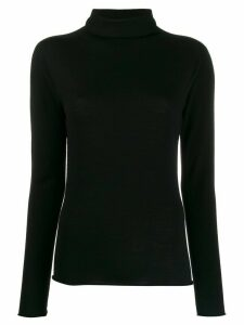 Peserico turtle neck knit top - Black