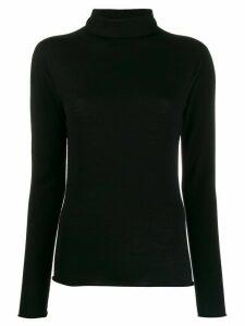Peserico turtle neck knit top - Black
