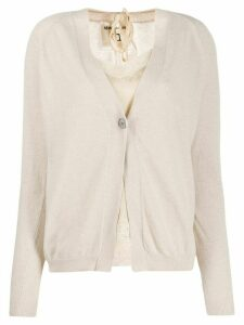 Semicouture long-sleeve fitted cardigan - Neutrals