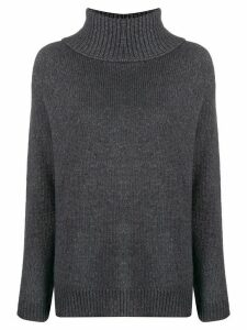 LIU JO rollneck knit sweater - Grey