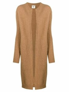 Semicouture long-sleeve midi cardigan - Brown