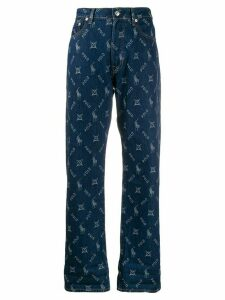 Polo Ralph Lauren high-waist logo embroidered jeans - Blue